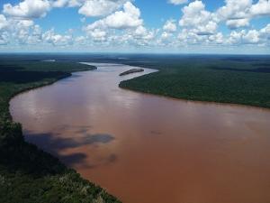 The Iguazu River in southern Brazil.