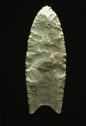 A beautifully fluted Clovis point.