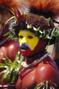 A Huli wigman in Papua New Guinea.