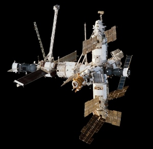 The Mir Space Station in 1998.
