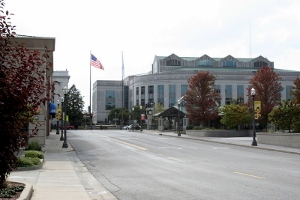 Small town Illinois: downtown Edwardsville in 2008.