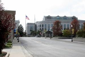 Small town Illinois: downtown Edwardsville in 2008.