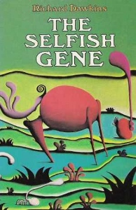 The original cover of The Selfish Gene, with art by the famous ethologist Desmond Morris.