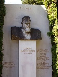 Ludwig Boltzmann's tomb in Vienna.