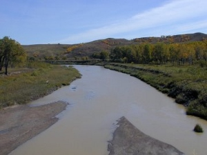 The Grand River near Little Eagle, SD.