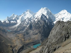 Siula Grande in the Peruvian Andes.
