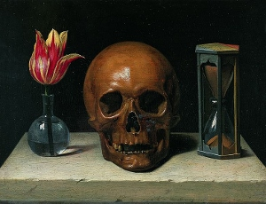 Still-Life with a Skull by Philippe de Champaigne.