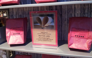 Blind date book sign