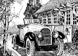 Old Car Drawing