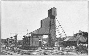 Shaft No. 10, Consolidation Coal Company, Buxton, Iowa in 1909.