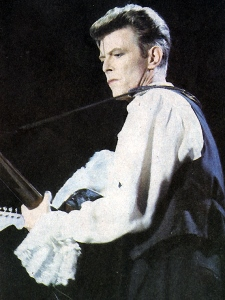 Bowie in Chile in 1990.