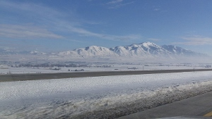 The beautiful Wellsville Mountains in northern Utah.