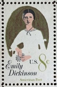 The 1971 Emily Dickinson US postal stamp.