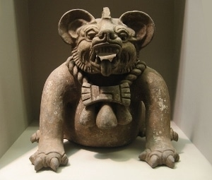 A Zapotec jaguar funerary urn from around 500 CE.