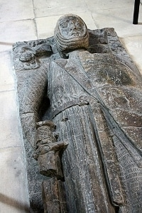 The funeral effigy above William Marshal's tomb at Temple Church in London.