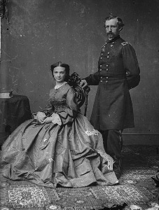 George and Libbie Custer during the Civil War.