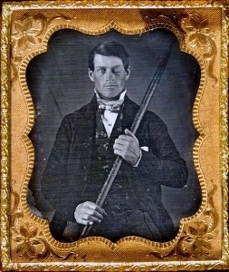 Phineas Gage with his ramrod companion.