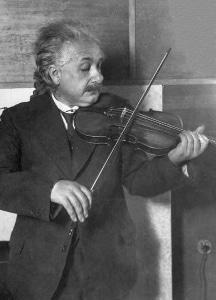 Einstein playing his violin circa 1920.