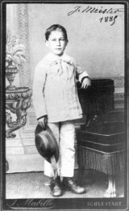 Brave little Joseph Meister.