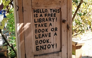 Little free library hutch