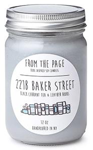 221B Baker Street Literary Candle