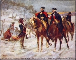 Washington and Lafayette (right) at Valley Forge by John Ward Dunsmore