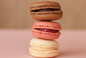 Stack of macaron cookies