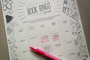 Book bingo playing card
