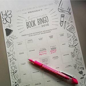 Book bingo playing card