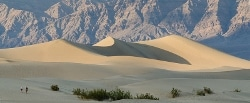 Sand dunes in Death Valley...very hot.
