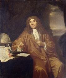 Antonie van Leeuwenhoek, the father of microbiology, circa 1673.