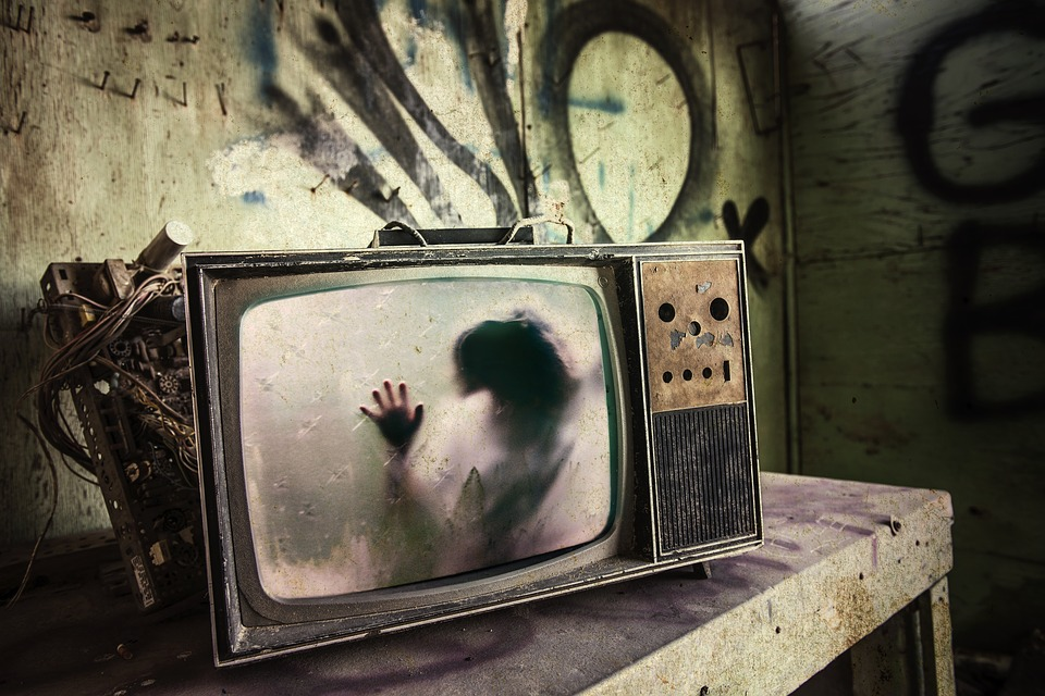 creepy tv set