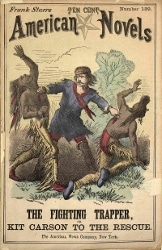 Kit Carson dime novel cover