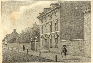 Washington's Philadelphia residence lithograph