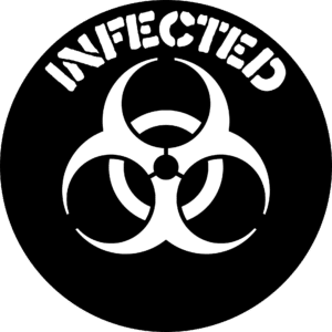 infected biowarning sign