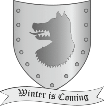 winter is coming banner and house shield