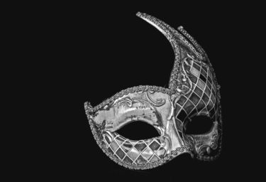 mask, black and white