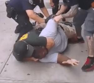 Eric Garner vs police photo
