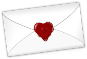 letter sealed with a heart