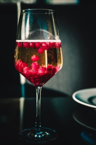 champagne with fruit