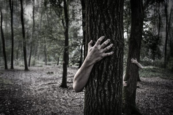 spooky trees and spooky hands