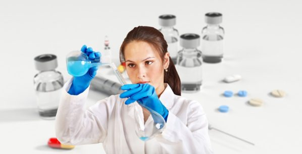 woman in a science lab