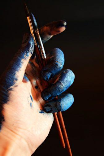 paint brush in hand