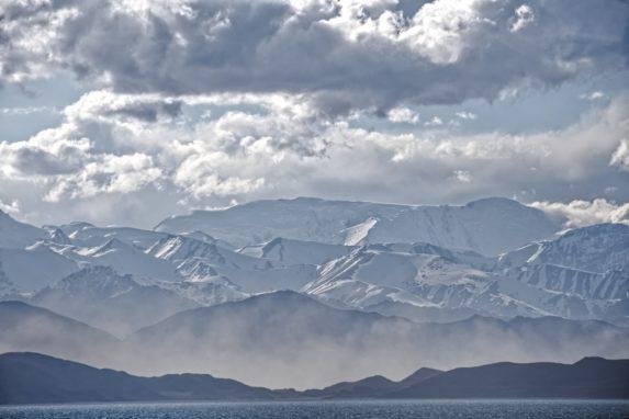 The Karakul Mountains in Tajikistan