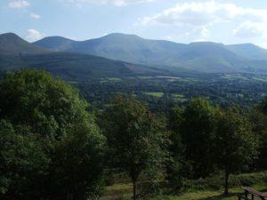 Photograph of Galtee Mountains in Ireland.