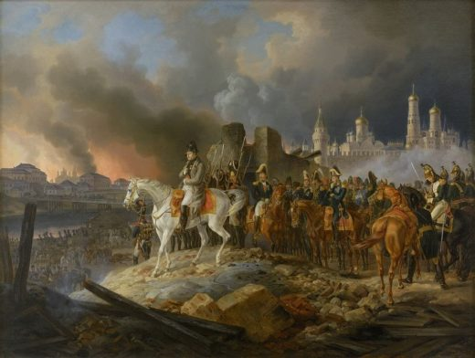 Napoleon burning Moscow by Adam Albrecht